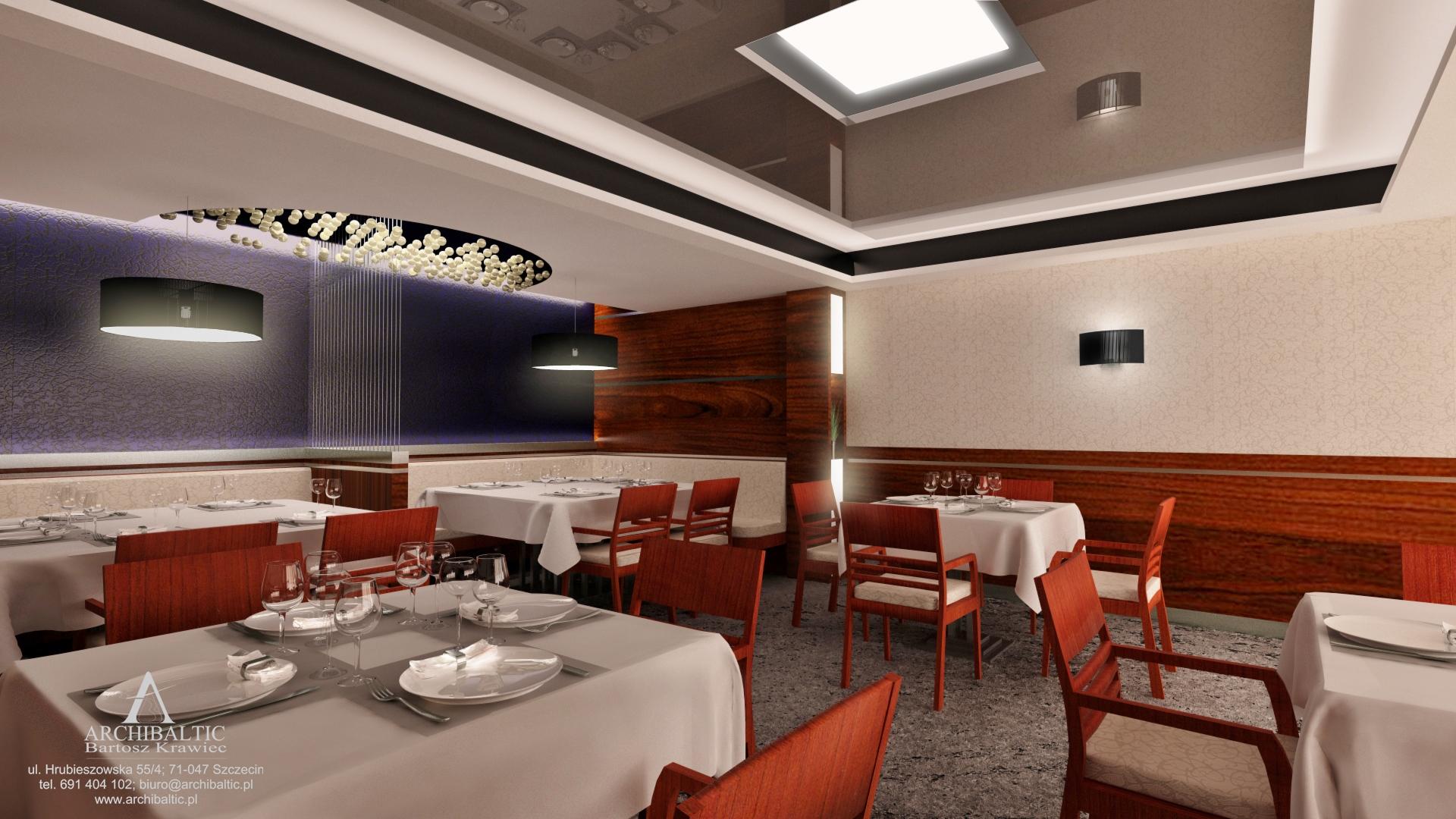 projekt sali **** restauracyjnej_jadalnia