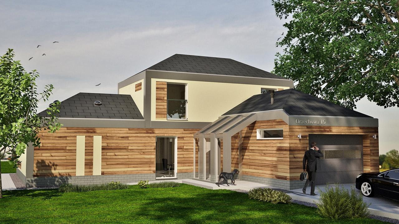 Projekt nietypowego domu jednorodzinnego pod Koszalinem