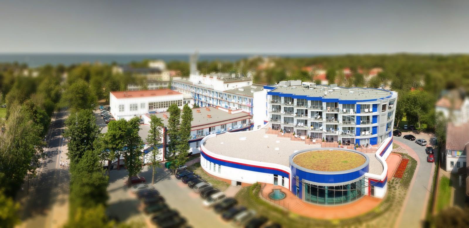 widok z góry Hotelu Unitral w Mielnie, projekt budynku hotelu