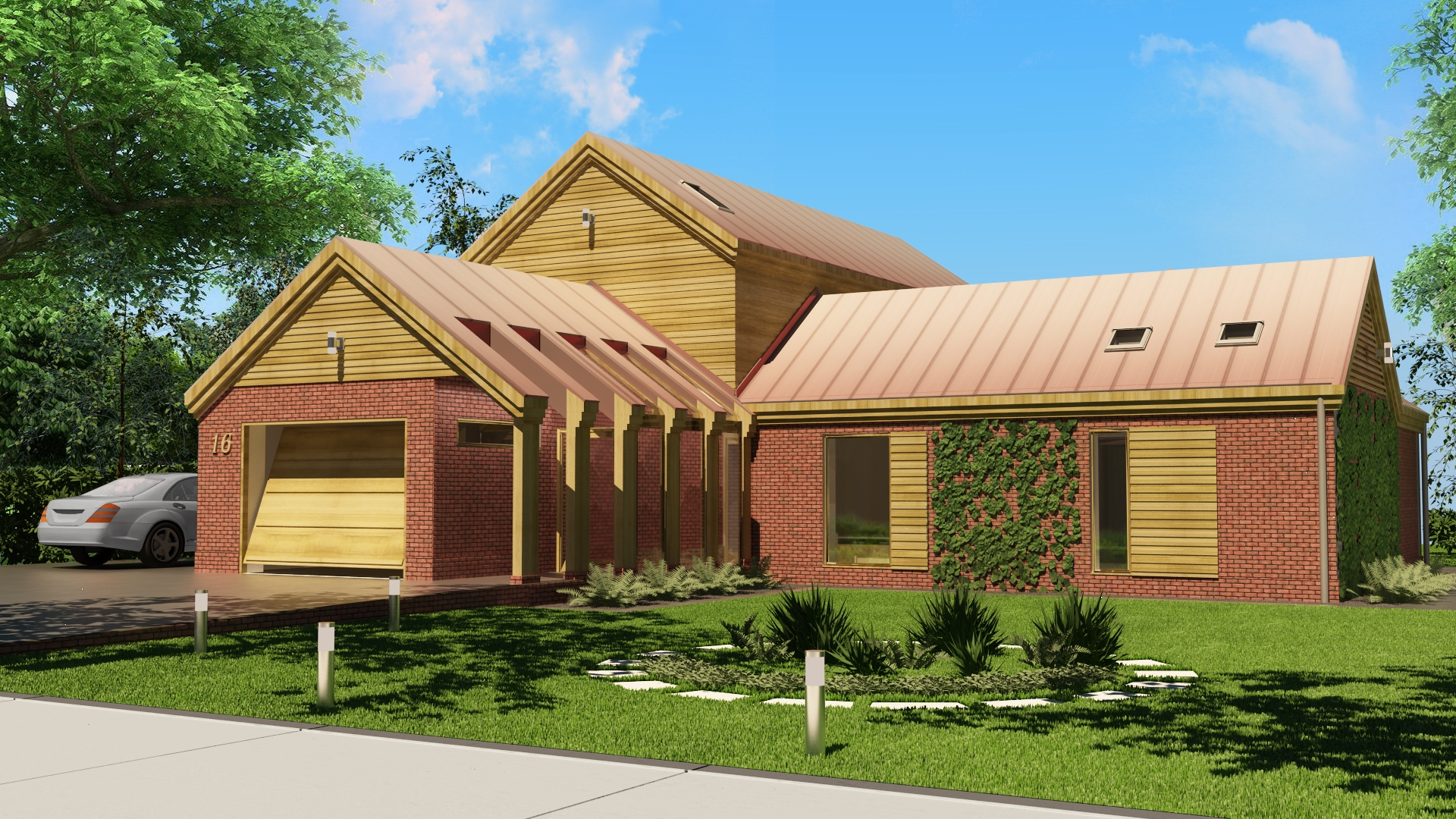 dom jednorodzinny z cegły