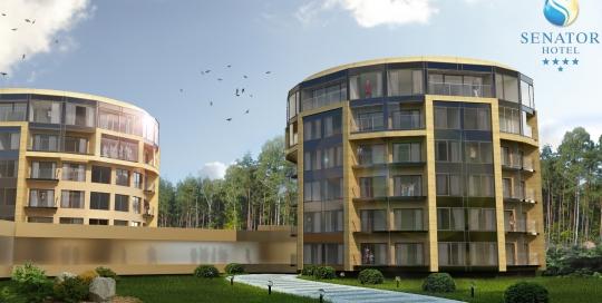 Wizualizacja rozbudowy i nadbudowy hotelu Senator w Dźwirzynie