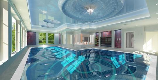 projekt wnętrz basenu do nauki pływania w Szczecinie