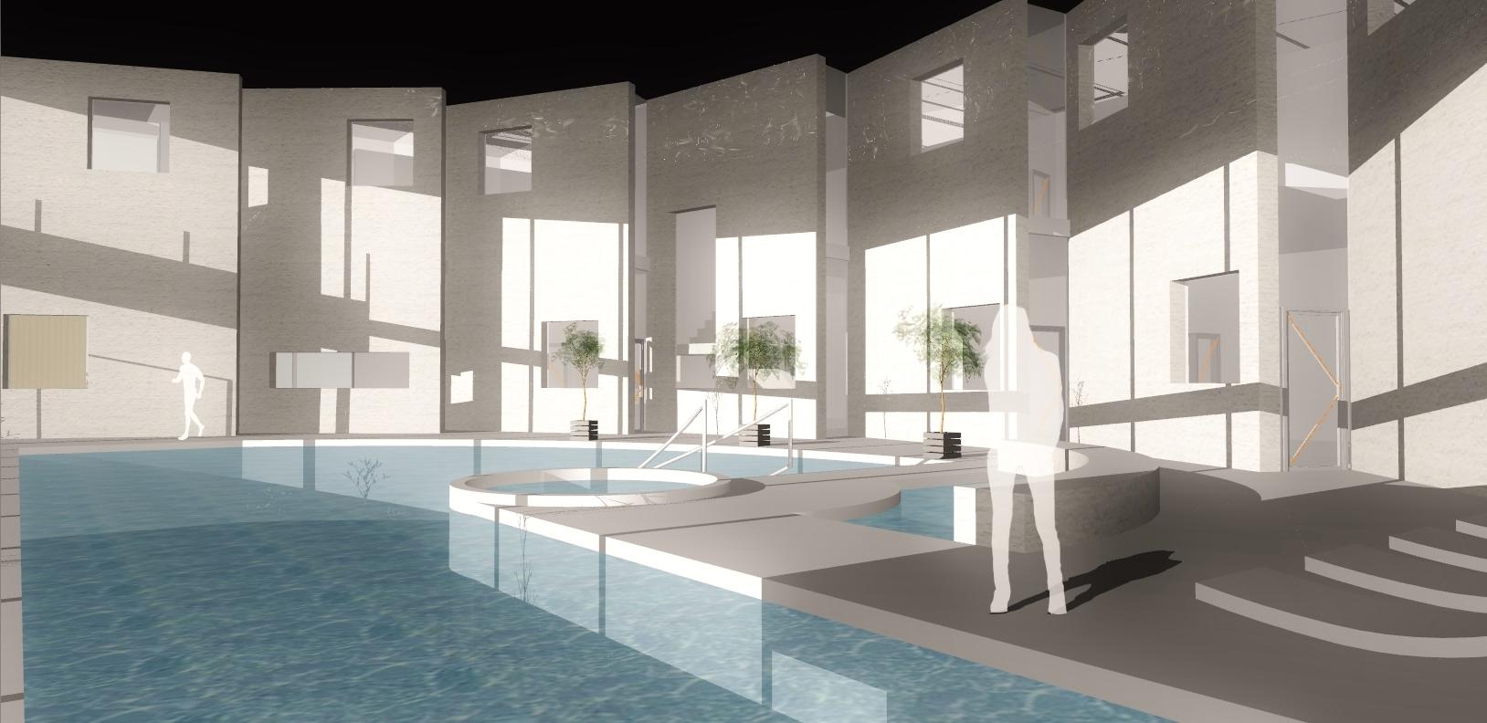 AQUAMARINA II - koncepcja wnętrza basenu