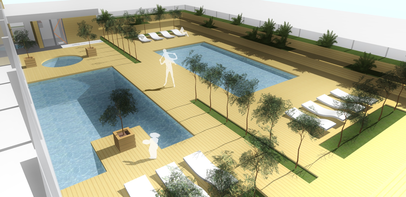 AQUAMARINA II - koncepcja budynku basenu aksonometria 2