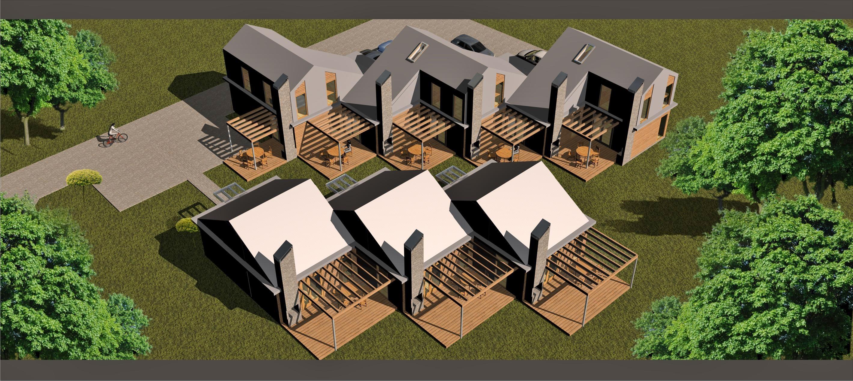 projekt szeregowych domów letniskowych w Gąskach