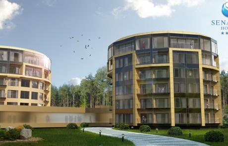 Wizualizacja hotel senator projekt rozbudowy i nadbudowy