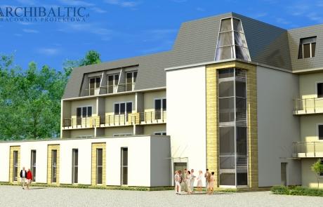 Wizualizacja rozbudowy Hotelu Afrodyta o basen